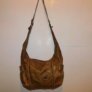 Vintage Guidi Brown Leather Handbag Italy